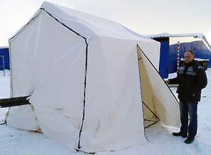 Укрытие (палатка сварщика) - «ШАТЕР для труб ПНД»